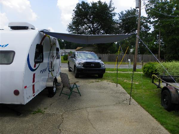 Here Im Using A Coleman 2 Pole Sun Shade As An Awning
